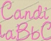 Candi Embroidery Font 3 Sizes