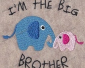Big Brother Elephant Embroidery Design 4x4
