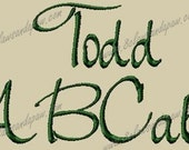 Todd Embroidery Font Includes 3 Sizes