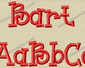 Bart in Multiple Sizes Embroidery Font