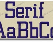 Serif Embroidery Alphabet-Multiple Sizes