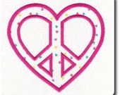 Valentine Applique Peace Sign
