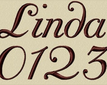Linda Embroidery Font