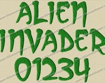 Alien Invader Font 3 Sizes