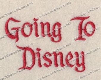 Going to Disney Machine Embroidery Font 3 Sizes