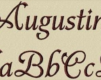 Augustine Embroidery Font in 3 Sizes