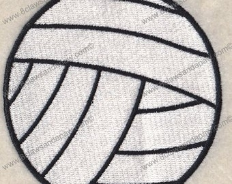 Volleyball  4x4 Embroidery Design
