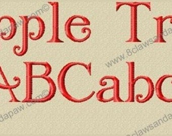 Apple Tree Embroidery Font