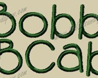 Bobby Embroidery Font