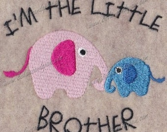 Little Brother Elephant Embroidery Design 4x4