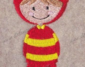 Boy Fireman Embroidery Design