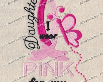 Breast Cancer Embroidery For Your Daughter
