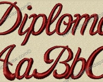Diploma Embroidery Font
