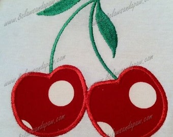 Applique Cherries Embroidery