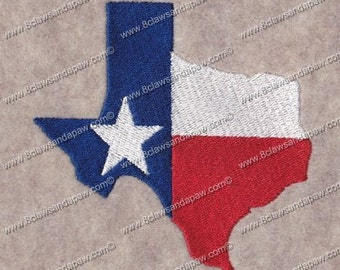 State of Texas Machine Embroidery Design 5x7
