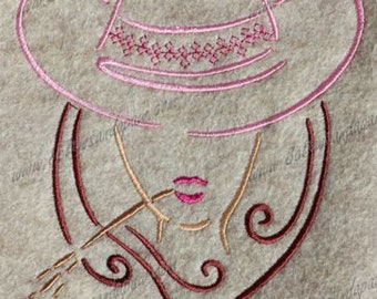 Cow Girl Embroidery Design-1