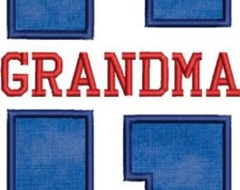 Grandma Applique Embroidery Design-Includes 3 Sizes