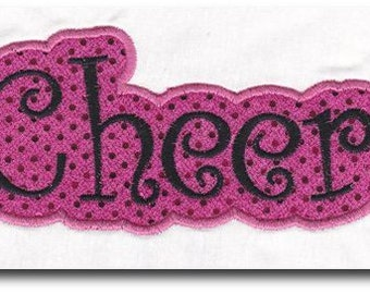Cheer Embroidery Applique