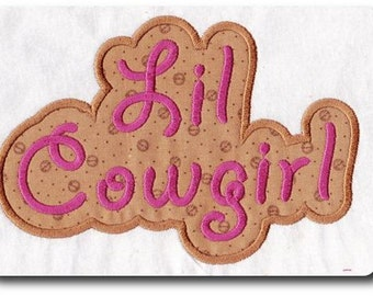 Lil Cowgirl Embroidery Applique