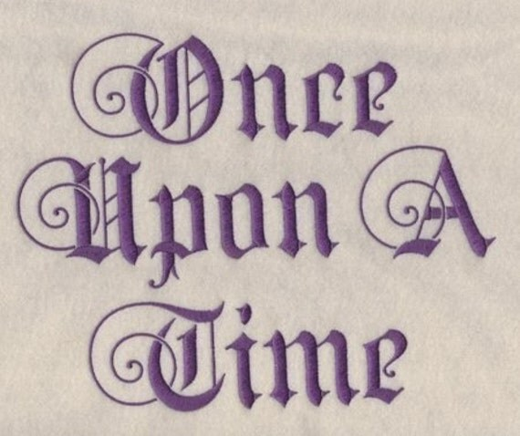 Once upon a time machine embroidery font Calligraphy books free