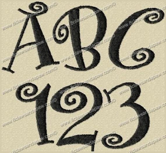 Boingo Embroidery Fonts 3 Sizes