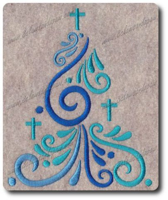 Christmas Tree Embroidery Design No: 3
