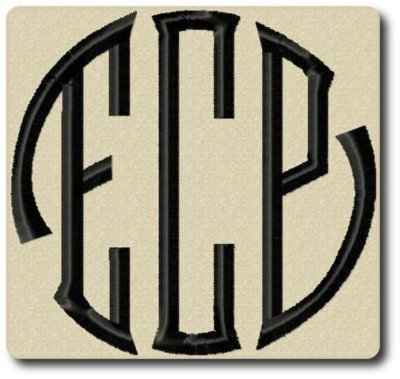 Seal Monogram Embroidery Alphabet Includes 3 Sizes