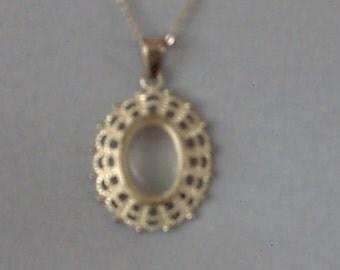 Clear cabachon pendant