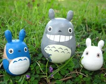 Set of 3 TOTORO DOLL Studio Ghibli mini figure model toy 2
