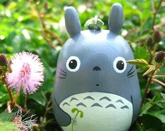 TOTORO keychain Studio Ghibli toy L4 (Size L hold leaf)