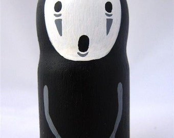 Spirited Away NO FACE / Faceless Studio Ghibli mini Doll / Model / Figure 2
