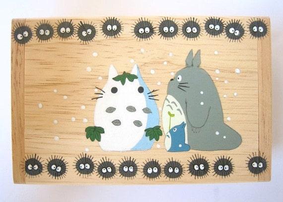 My Neighbor Totoro Hand Paint wood Box Studio Ghibli 15