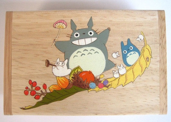 My Neighbor Totoro Name card Hand Paint wood Box Studio Ghibli 18