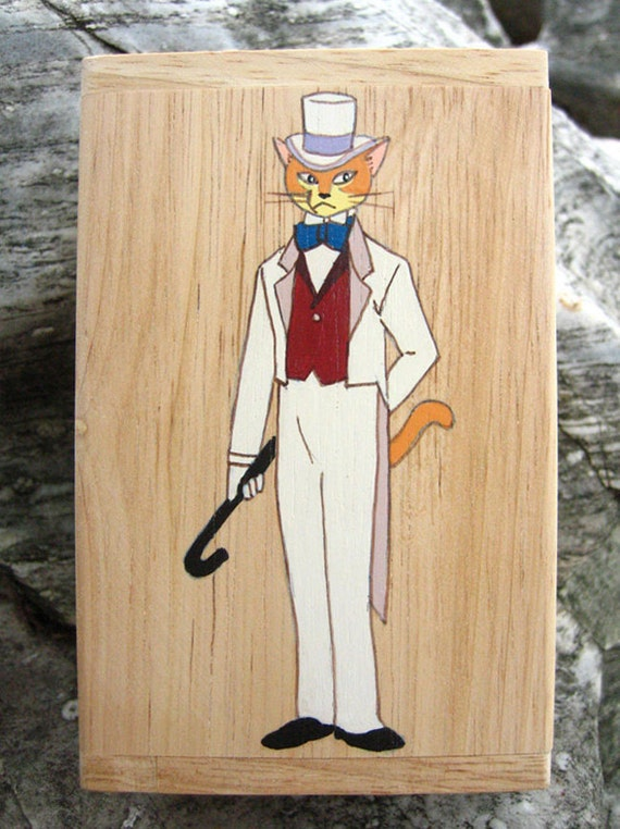 Baron the cat wooden Box from Whisper of the heart  and The Cat Returns film