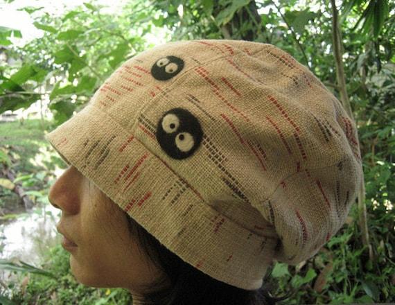 My Neighbor Totoro Spirited Away soot sprites Cotton Beanie Skull Tuque Hat cream (dust bunnies Susuwatari kurosuke)