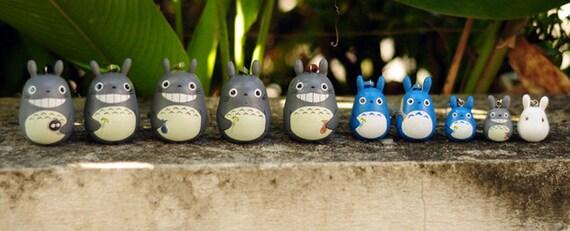 Complete set of 10 mini TOTORO Dolls key chains rings Studio Ghibli toy