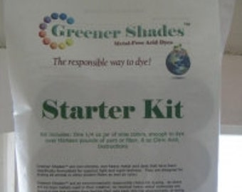 Greener Shades Dye/ Starter Dye Kit/ Home Dye Kit/ Roving/ Combed Top/ Safe for Enviornment/ 9 Brilliant colors/ Alba Ranch/Complete Dye Kit