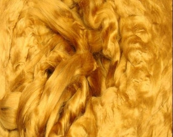 Topaz/ Dyed Bamboo/ Bamboo/ Needle Felting/ Blending Fiber/ Roving/ Spinning Top/ Alba Ranch/ 1 oz/ Add In Fiber/ How to Spin Yarn/