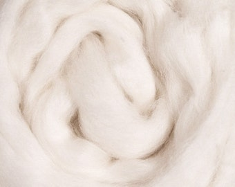 Polwarth/ White/ Wool Roving/ Combed Top/ Rovings/ How to Spin Yarn/ Needle Felting/ Wet Felting Supply/ Spinning Top/ Alba Ranch/ 8 oz/