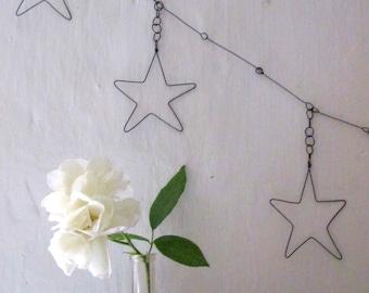 Garland of 5 stars wire