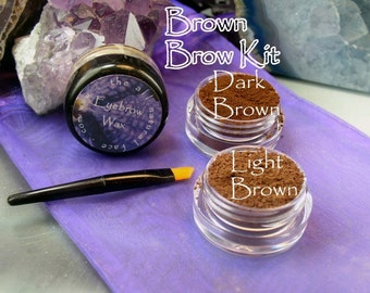 Vegan Mineral Brown Brow Powder Kit