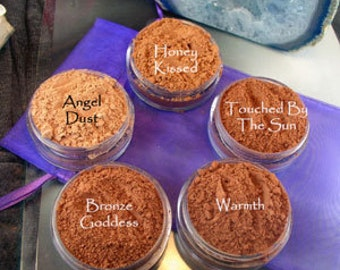 Vegan Bronzer samples in baggies