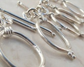 12x8mm oval toggle clasp sterling clasp