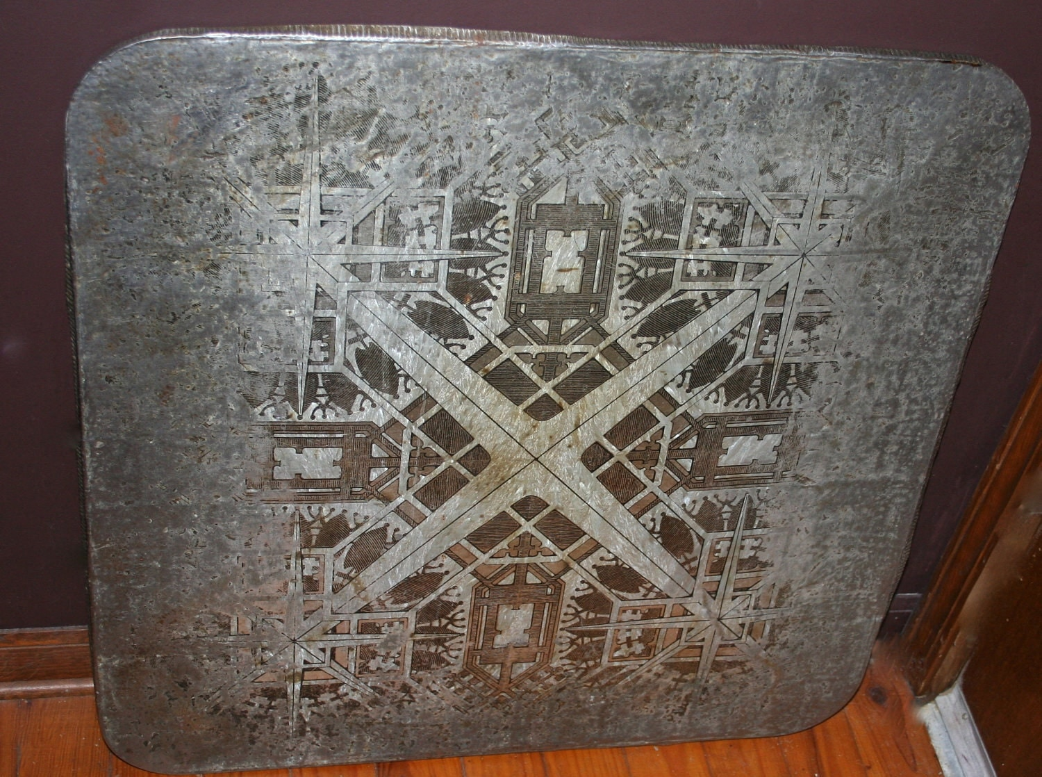 Antique Tin Lithograph American Stove And Board Company Wood