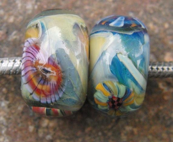 Handmade lampwork beads big hole european charm trollbeads biagi chamilia