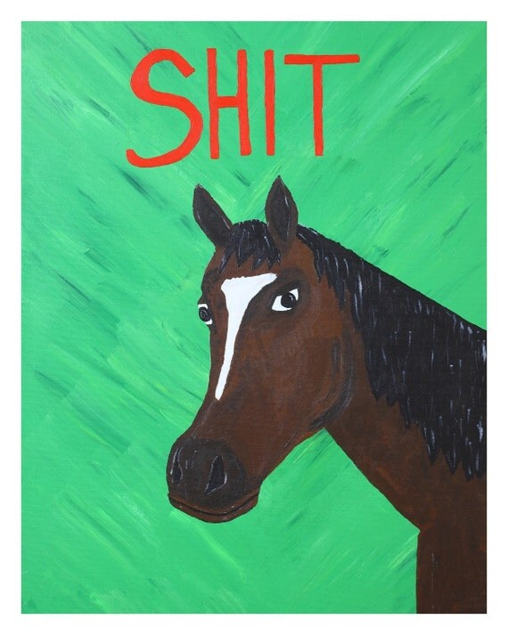 """A Portrait of a Horse as a Young Man-8""""x10"""" Print"""