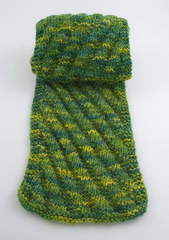 Diagonal Rib Scarf Knitting Pattern PDF