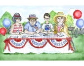 The League of Women Voters at the Fourth of July Picnic print