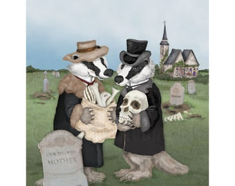 Badgers Behaving Badly Print