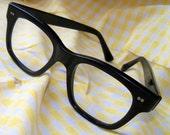 Vintage VAM Black Horn Rimmed Eye Glasses